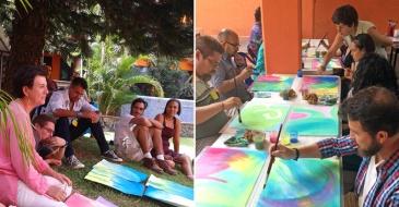 MARCIA LOURENÇO, nació y vivió su infancia en el interior de Sao Paulo, Brasil. Es formada en pintura en el Centro de Artes de Sao Paulo con orientación sobre el color derivado de la cosmovisión antroposófica. Estudió Artes Plásticas y Arte Terapia, realizó exposiciones en Brasil, Alemania y Buenos Aires. Actualmente da cursos y talleres de pintura para niños y adultos.